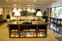 Lobby élégant d'hôtel photo stock