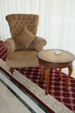 Lobby. Armchair for rest in a lobby of hotel Royalty Free Stock Photography