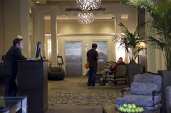 Lobby of Alexis Hotel Stock Photo