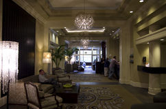 Lobby of Alexis Hotel Stock Photography