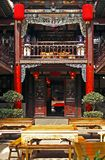 The lobby of ancient inn. In the ancient city of Pingyao, there is such an ancient inn much, here has kept the sample since centuries completely Royalty Free Stock Image