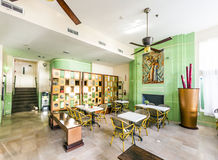 Lobby art deco stylu koloni hotel w Miami Obrazy Royalty Free