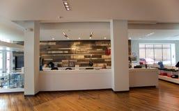 Lobby au bâtiment de Panthéon de bleus à Memphis, TN Photos stock