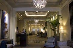 Lobby av Alexis Hotel Arkivbild