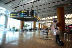 Lobby av den Singapore Changi flygplatsen Arkivfoto