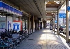 Lobby av en shoppinggalleria i Akita, Japan Arkivbilder