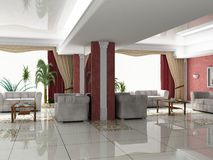 Lobby - bar. The hotel Interior (lobby - bar stock photography