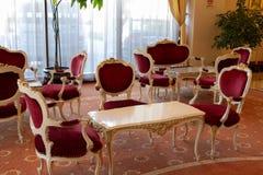 Lobby baroque dans un hôtel Photographie stock