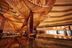 Lobby brillant d'hôtel images libres de droits