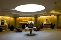 Lobby of business building. A welcoming lobby of a big business building and hotel Stock Photos
