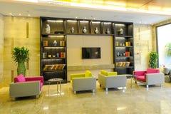 Lobby chaud d'hôtel Photographie stock