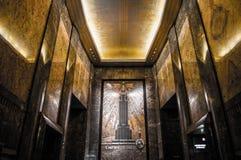 Lobby d'entrée principale d'Empire State Building photo stock