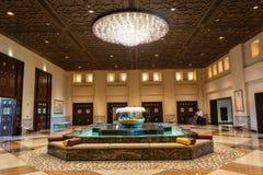Lobby d'hôtel de Grand Hyatt dans Doha photographie stock libre de droits