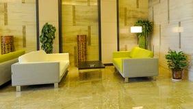 Lobby d'hôtel Photographie stock libre de droits