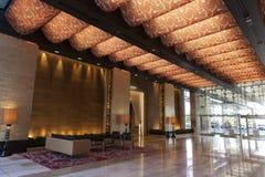 Lobby d'hôtel de tourisme de M à Las Vegas, nanovolt le 20 août 2013 Images libres de droits
