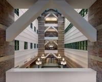Lobby d'institut de Beckman photographie stock libre de droits
