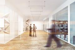 Lobby d'un modèle de mur d'étoile et d'une tache floue de bureau en verre Images libres de droits
