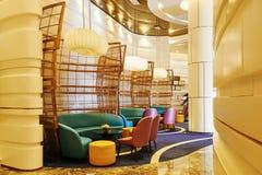 Lobby de hall d'hôtel Image libre de droits