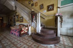 Lobby de l'hôtel de cintreuse à Laredo le Texas image stock