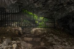 Lobby de la caverne Photos stock