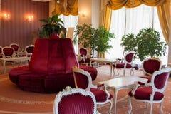 Lobby de luxe dans un hôtel Photos libres de droits