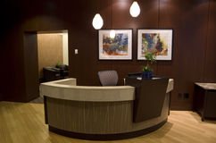 Lobby des Hotels 1000 Lizenzfreie Stockfotos