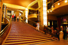 Lobby of the Dolby Theater. The Dolby Theater in Hollywood is the host of the annual Academy Awards Ceremony royalty free stock images