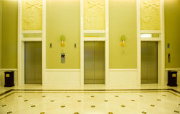 Lobby with elevators Royalty Free Stock Photography