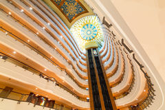 Lobby and elevators of Khalidiya Palace in Abu Dhabi, UAE Stock Image