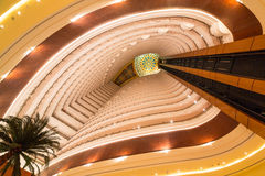 Lobby and elevators of Khalidiya Palace in Abu Dhabi, UAE Royalty Free Stock Image