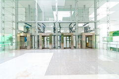Lobby with elevators. In the office building Royalty Free Stock Photos