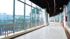 Lobby en verre de builing moderne Photos libres de droits