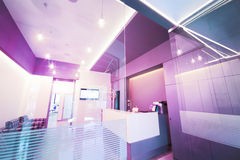 Lobby entrance with reception desk in a dental clinic. Royalty Free Stock Photography