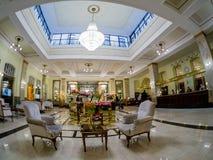 Lobby et réception d'hôtel de Metropol à Moscou, Russie Photo stock