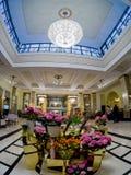 Lobby et réception d'hôtel de Metropol à Moscou, Russie Image libre de droits