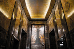Lobby för huvudsaklig ingång för Empire State Building arkivfoto