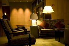Lobby för lyxigt hotell royaltyfria foton