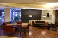 Lobby för lyxigt hotell Arkivbild