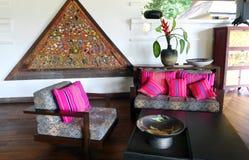 Lobby för Thailand hotellsemesterort Arkivbild