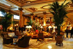 Fairmont Hotel, San Francisco. The lobby of the Fairmont Hotel, in San Francisco, is designed with the elegance of the early 20th Century royalty free stock photo