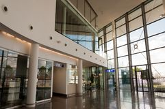 Lobby of Gibraltar International Airport. A view inside the terminal of the Gibraltar International Airport in the British overseas territory of Gibraltar Royalty Free Stock Photography