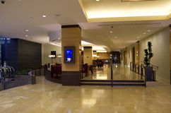 Lobby grand d'hôtel de Hyatt Photos libres de droits