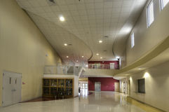 Lobby at Gymnasium. At High School in Florida stock images