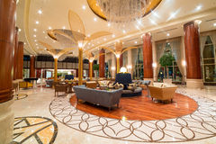 Lobby and hall of Khalidiya Palace in Abu Dhabi, UAE Royalty Free Stock Photo