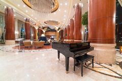 Lobby and hall of Khalidiya Palace in Abu Dhabi, UAE Stock Image