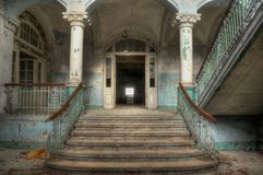 Lobby of health resorts in Beelitz Stock Photo