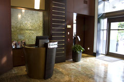 Lobby of Hotel 1000 Seattle Royalty Free Stock Photos