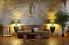 Lobby im Hotel Stockfoto