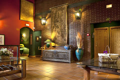 Lobby im Hotel Lizenzfreies Stockbild