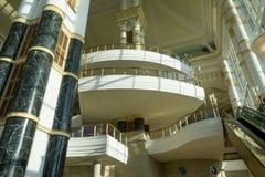 Lobby impérial d'hôtel, Brunei photographie stock